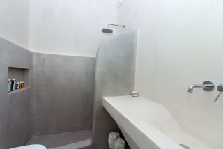 penthouse enosis apartments shower area